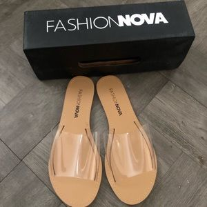 Fashion nova clear sandals 6
